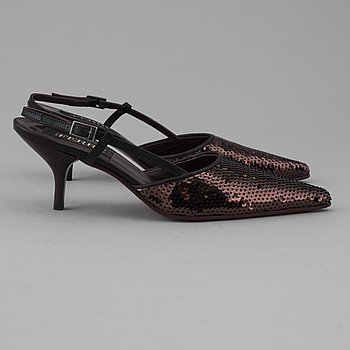 Sequin slingbacks by Jean ferre.