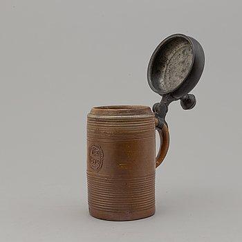 STOP, lergods och tenn, daterat 1842.