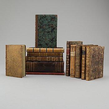TWELVE 19TH CENTURY BOOKS.