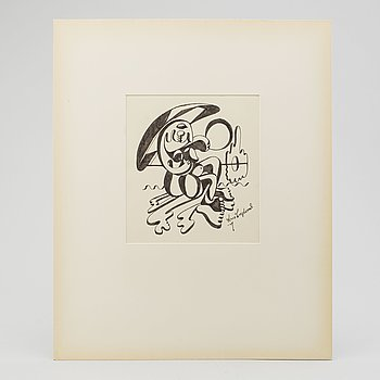 LARS ENGLUND, Ink drawing, signed and dated -49.