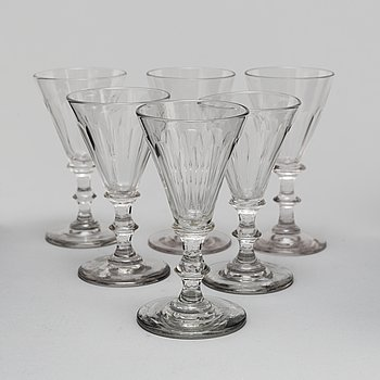 Six 19th/20th century glasses.