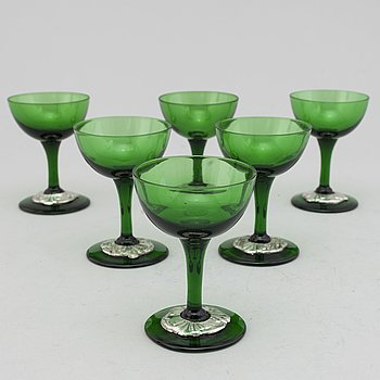 Six first half of the 20th century glasses.
