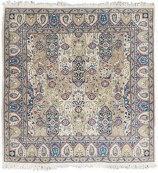 62. A carpet, Nain. Circa 209x201 cm.