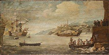 OKÄND KONSTNÄR, 1800-tal, olja på pannå.