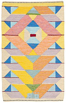 227. Agda Österberg, MATTA, rölakan och gobelängteknik, ca 128 x 80 cm, signerad AÖ (Agda Österberg).