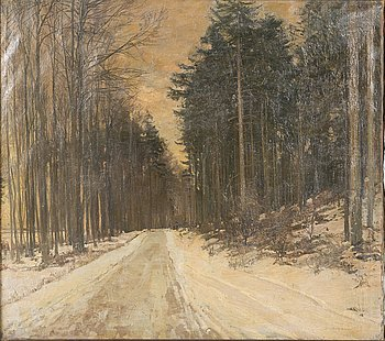 GERHARD BLOM, oil on canvas, signed and dated 1917.