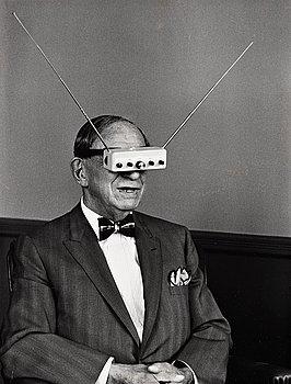 """299. Alfred Eisenstaedt, """"Hugo Gernsback"""", 1960's."""