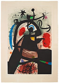 "600. JOAN MIRÓ, ""Le Permissionnaire""."