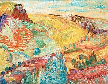 """432. Sigrid Hjertén, """"Landscape, Auvergne""""."""