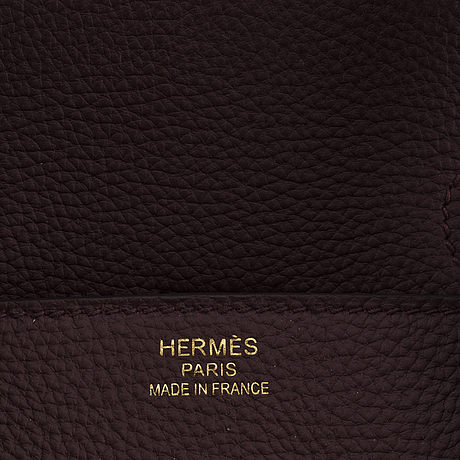 A birkin 35 by hermès bordeaux, 2017.