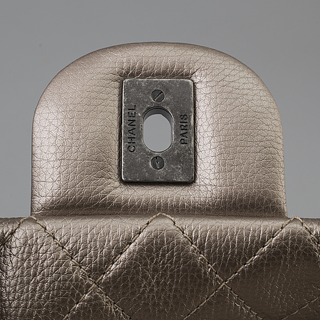 Chanel metallic calfksin xxl large classic flap bag, gold , 2016-17.