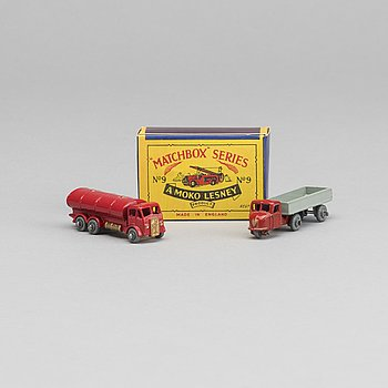 LESNEY MATCHBOX SERIES, 3 st, bland annat Dennis Fire Escape RW 09B-1.