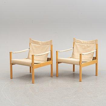 FÅTÖLJER, ett par, Johanson design, Markaryd, 1900-talets mitt.
