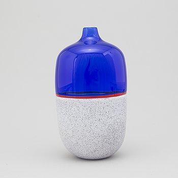 LINO TAGLIAPIETRA, a glass vase, Effetre International, Murano 1988.
