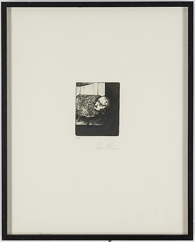 Roman scheidl, etching, signed 37/40.