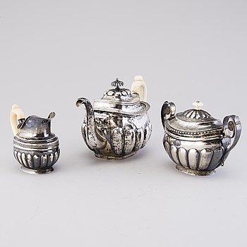TERSERVIS, 3 DELAR, silver, Ryssland 1800-talets början.
