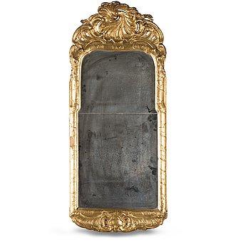 12. A SWEDISH ROCOCO MIRROR, late 18th century.
