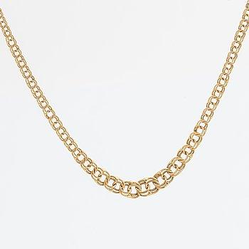 COLLIER, 18K guld, bismarck-länk, 6,6 g.