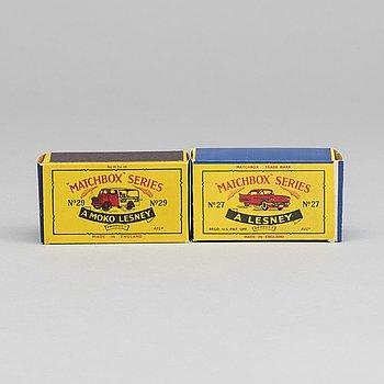 LESNEY MATCHBOX SERIES, 2 pcs.