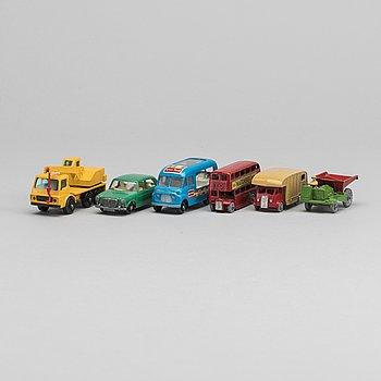 SIX LESNEY MATCHBOX SERIES CARS.