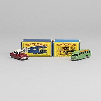 FOUR LESNEY MATCHBOX SERIES CARS.