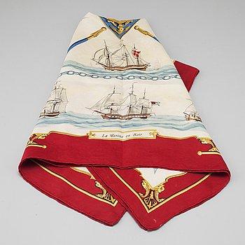 """HERMÈS, scarf, """"La Marine en Bois""""."""