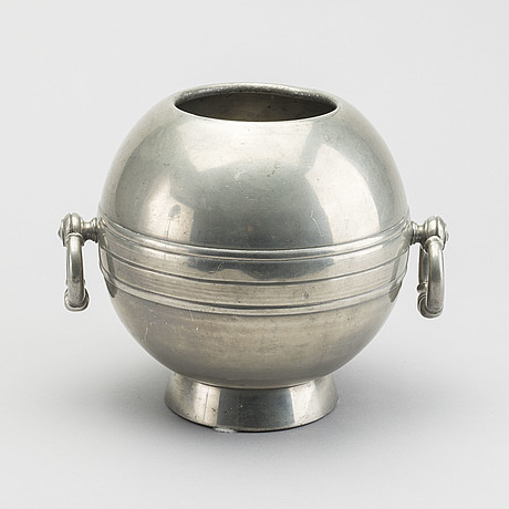 A pewter wine cooler by gab stockholm 1937.