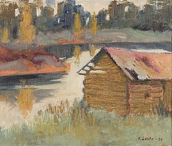 NIKOLAI LEHTO, oil on canvas laid on canvas, signed and dated -56.