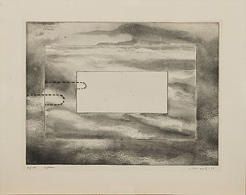 """MAPP """"IX - Grafik 1966"""", med 9 grafiska blad, IX-Gruppen, bl.a. PG Thelander, signerade och numrerade 81/100."""