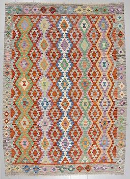 A kelim rug, 291 x 210 cm.