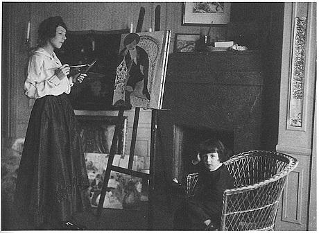 """Sigrid hjertén, """"iván i fåtöljen"""" (iván in the armchair)."""
