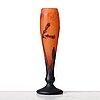 Daum, an art nouveau cameo glass vase, nancy, france.