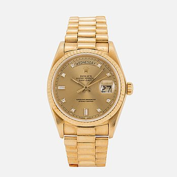 ROLEX, Oyster Perpetual, Day-Date, Chronometer, armbandsur, 36 mm,