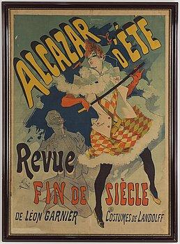 "JULES CHÉRET, efter. Litografisk affisch, ""Alcazar d'Été"", Paris, Frankrike, 1890."