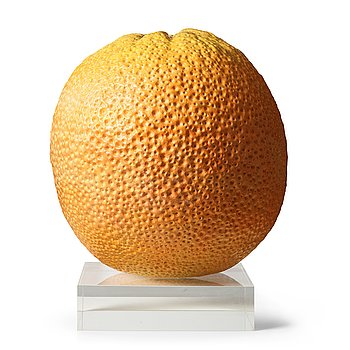 90. HANS HEDBERG, a monumental faience sculpture of an orange, Biot, France.