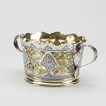 SKÅL, silver, rysk, 1900-talets senare hälft.