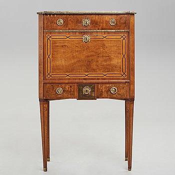 A Gustavian late 18th century secretaire.