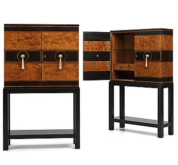 268. Otto Schulz, a pair of Swedish Grace cabinets for Boet, Gothenburg 1930's.
