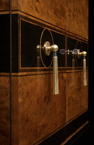 Otto schulz, a pair of swedish grace cabinets for boet, gothenburg 1930's.