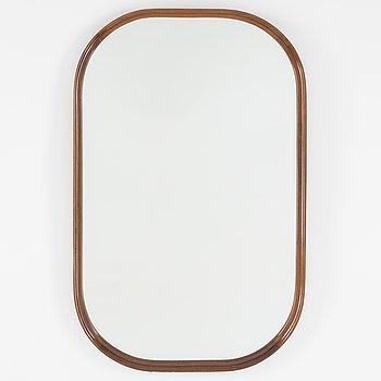 A mahogany mirror from Svenska Möbelfabrikerna, mid 20th century.