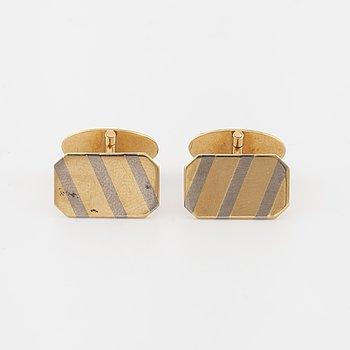 A pair of cufflinks by Engelbert, Stockholm, 1984.