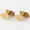 A pair of cufflinks by engelbert, stockholm, 1984