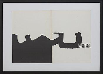 EDUARDO CHILLIDA, litografi, omslag till Derrière le Miroir nr 204 1973.