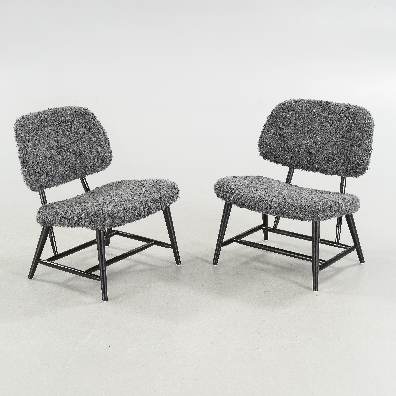 A Pair Of Swedish 1950s Teve Tv Easy Chairs Design Alf Svensson Bra Bohag Studio Ljungs Industrier Malmo Bukowskis