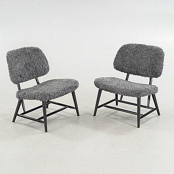 """ALF SVENSSON, fåtöljer ett par, """"TeVe"""", Bra Bohag, Studio Ljungs Industrier AB, Malmö, 1950-tal."""