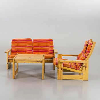 YNGVE EKSTRÖM, sofa, table and armchair, Swedese.
