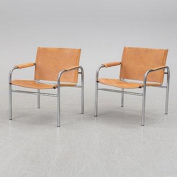 """TORD BJÖRKLUND, karmstolar, ett par, """"Klinte"""", för IKEA, 1900-talets slut."""