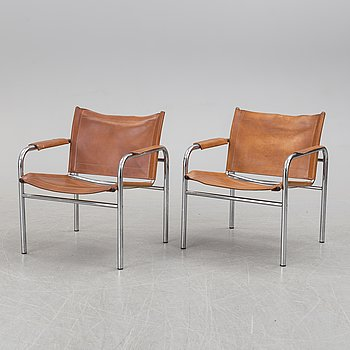 A pair of 'Klinte' easy chairs by Tord Björklund, for IKEA, late 20th century.
