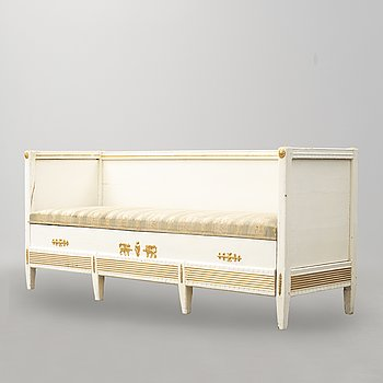 A first half of the 19th century late Gustavian sofa.