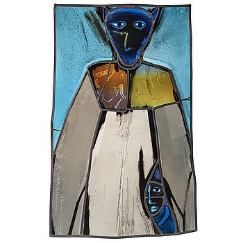 """16. Ann Wolff, """"The dress"""", a glass panel, Transjö, Sweden 1988."""